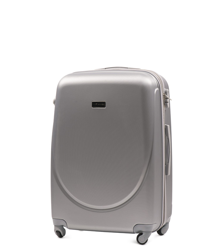 Малый чемодан Wings Goose 310-4 - Silver (55 см)
