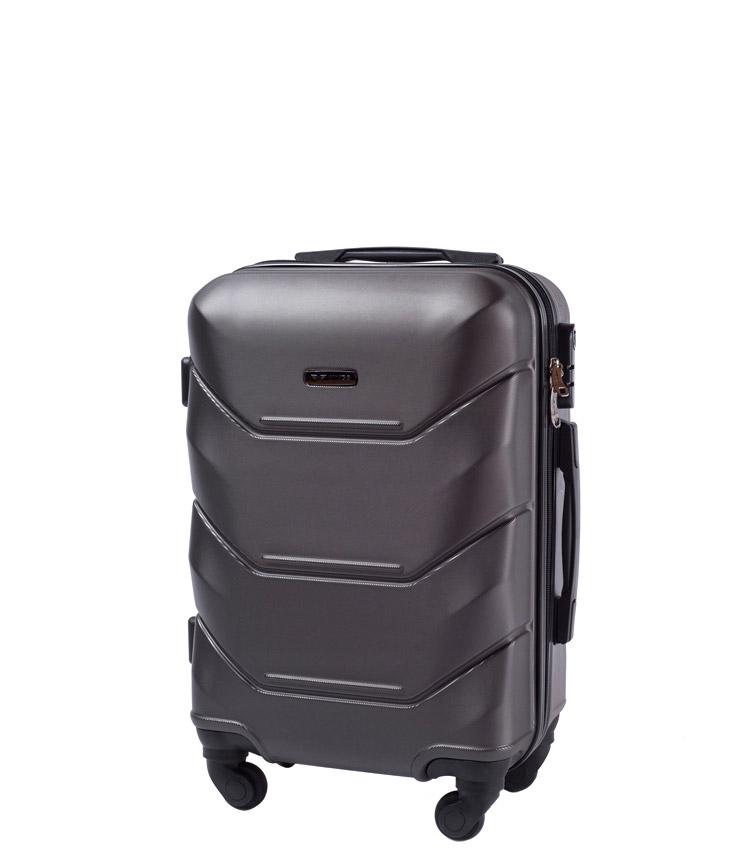 Малый чемодан Wings Peacock 147-4 - Dark grey (55 см)