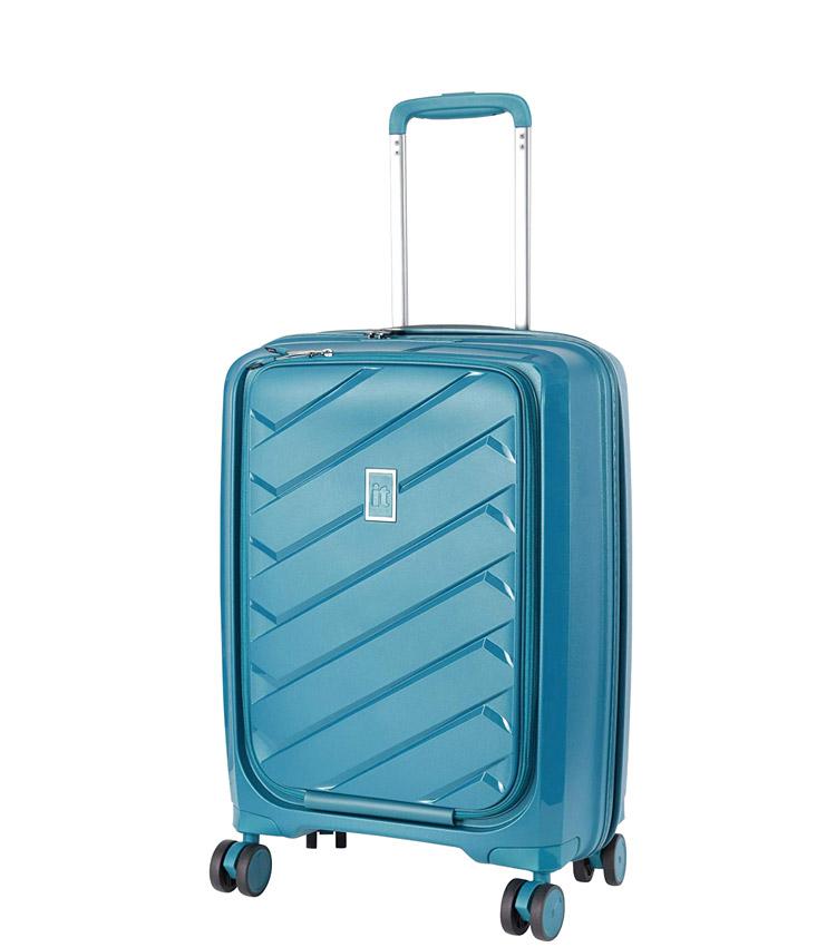 Малый чемодан IT Luggage Influential 15-2588-08 (55 см) - Blue ~ручная кладь~