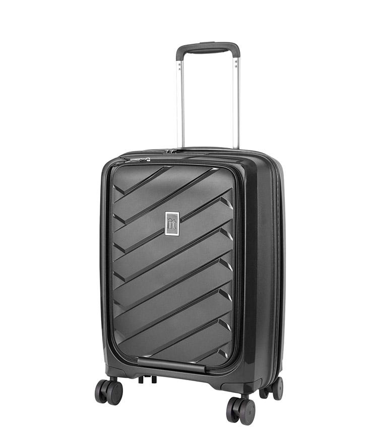 Малый чемодан IT Luggage Influential 15-2588-08 (55 см) - Black ~ручная кладь~