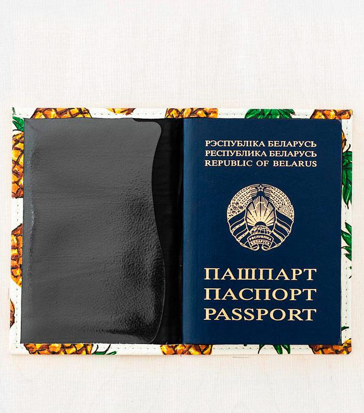Обложка для паспорта Vokladki «Ананасы»