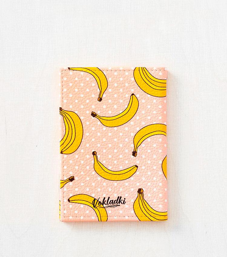 Обложка для паспорта Vokladki «Бананы»
