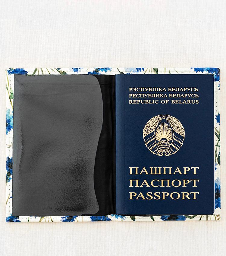 Обложка для паспорта Vokladki «Васильки»