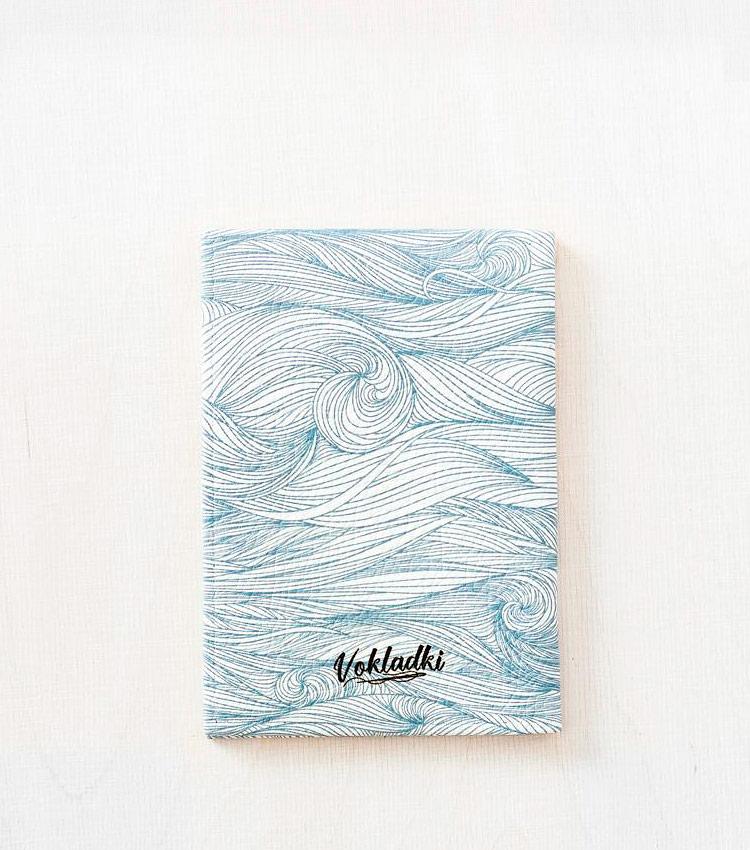 Обложка для авто документов Vokladki «Волны»