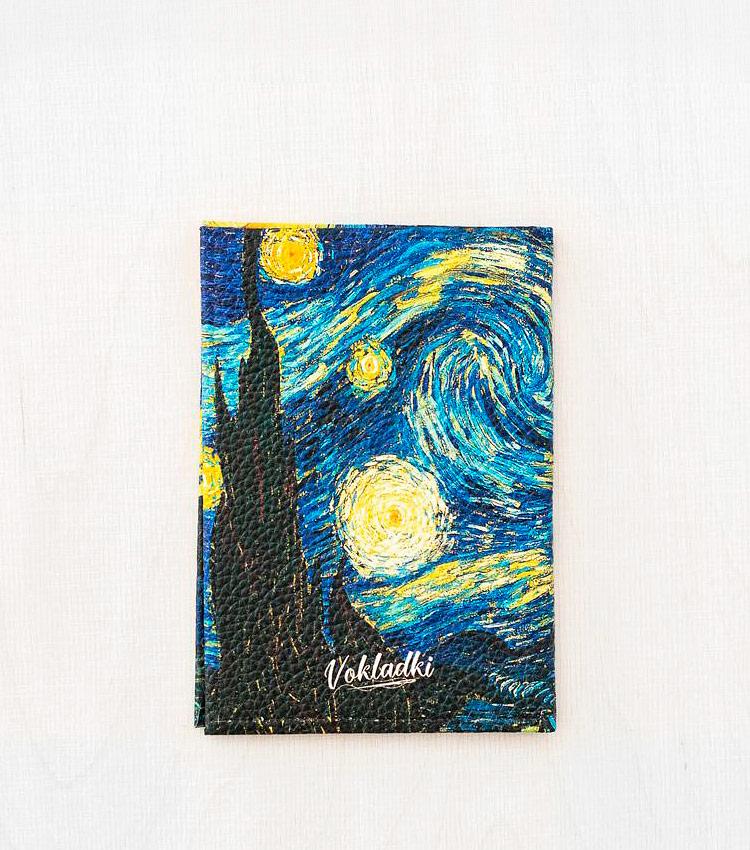 Обложка для авто документов Vokladki «Звёздная ночь»