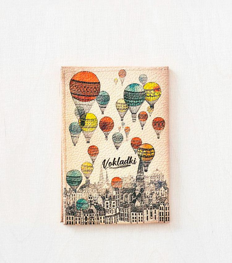 Обложка для авто документов Vokladki «Над городом»