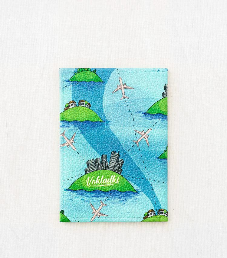 Обложка для паспорта Vokladki «Острова»