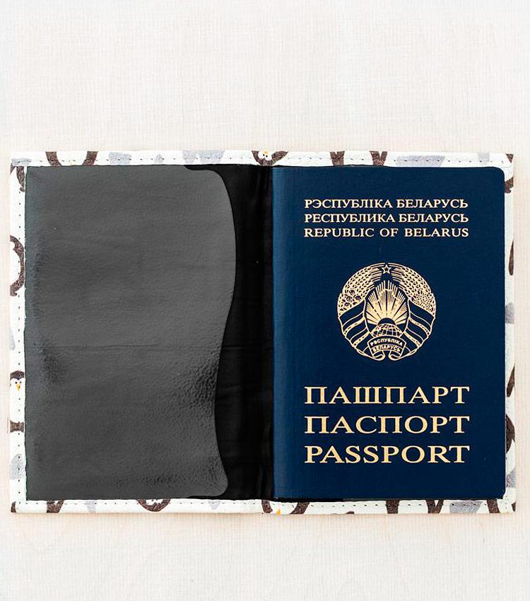 Обложка для паспорта Vokladki «Пингвины»