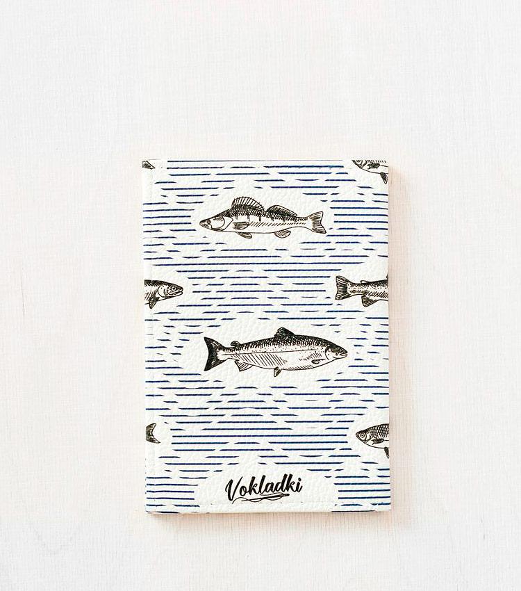 Обложка для авто документов Vokladki «Рыбки»