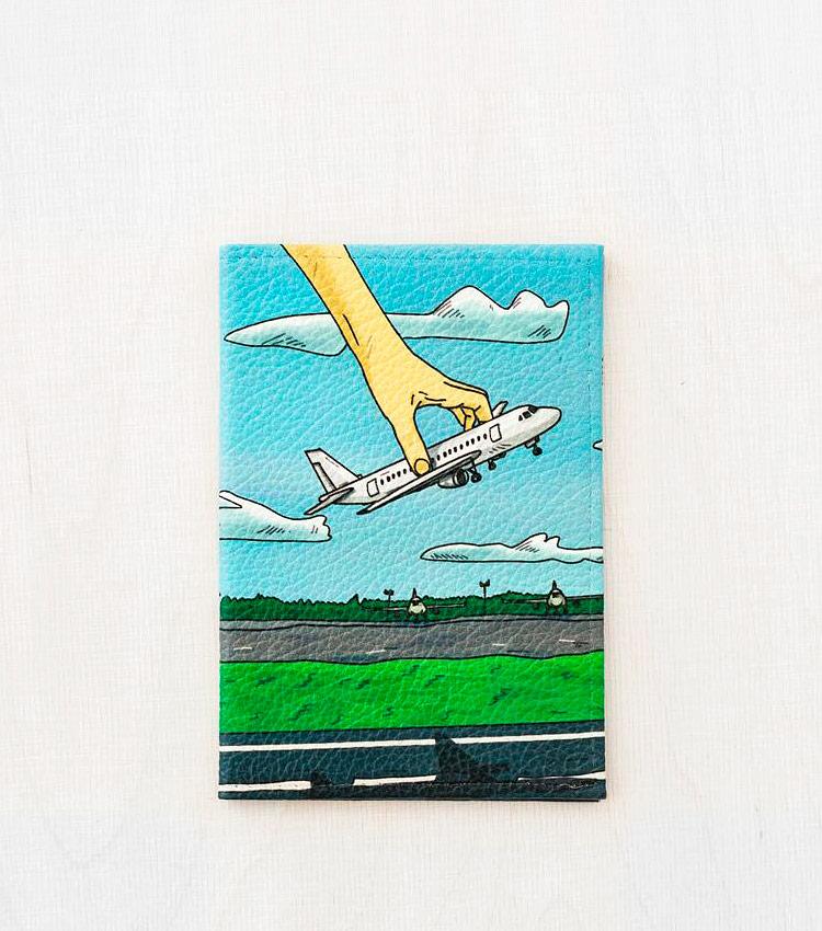 Обложка для паспорта Vokladki «Самолёт»