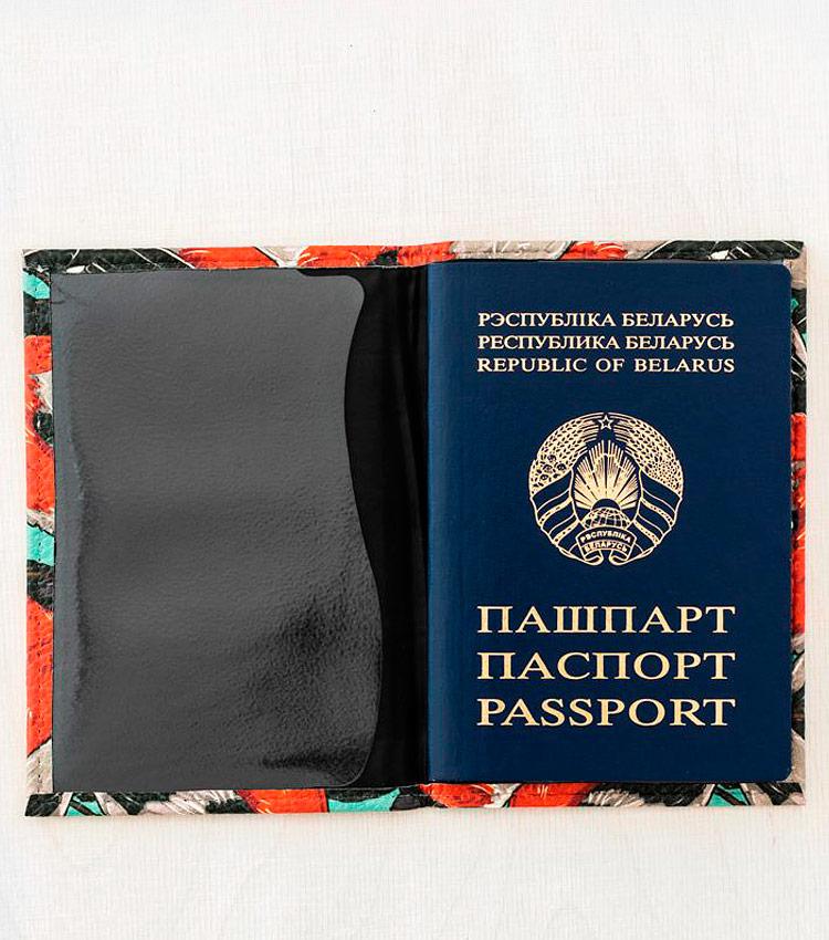 Обложка для паспорта Vokladki «Снегири»