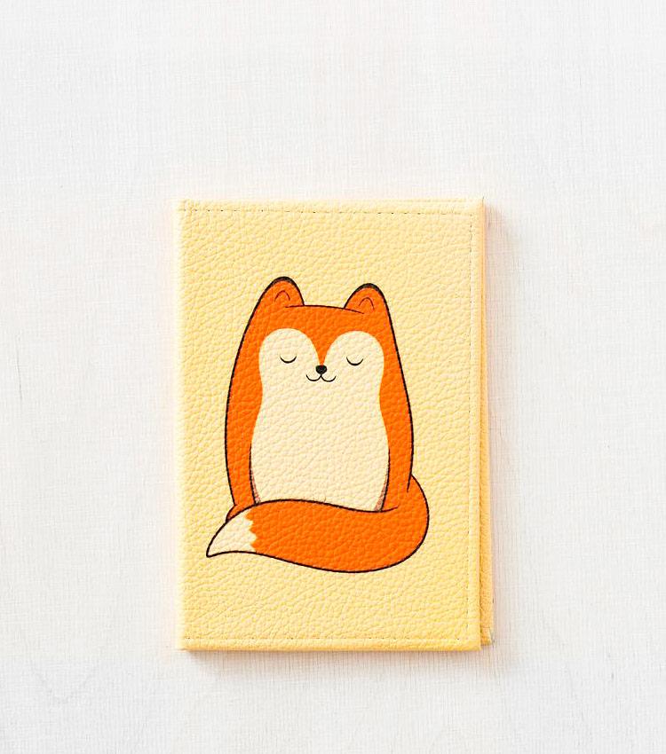 Обложка для паспорта Vokladki «Тёплый лис»