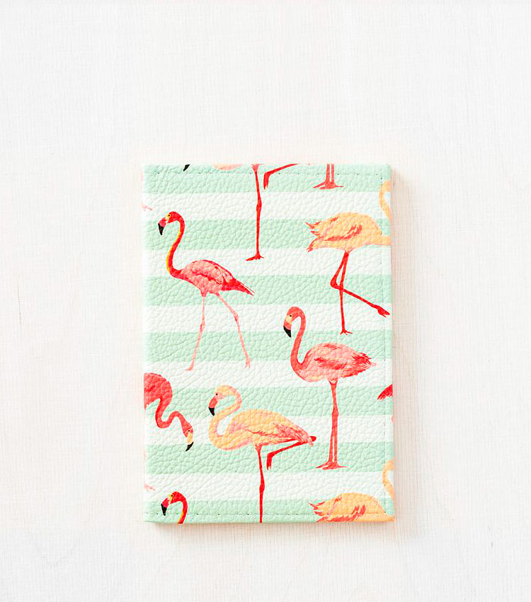 Обложка для паспорта Vokladki «Фламинго»