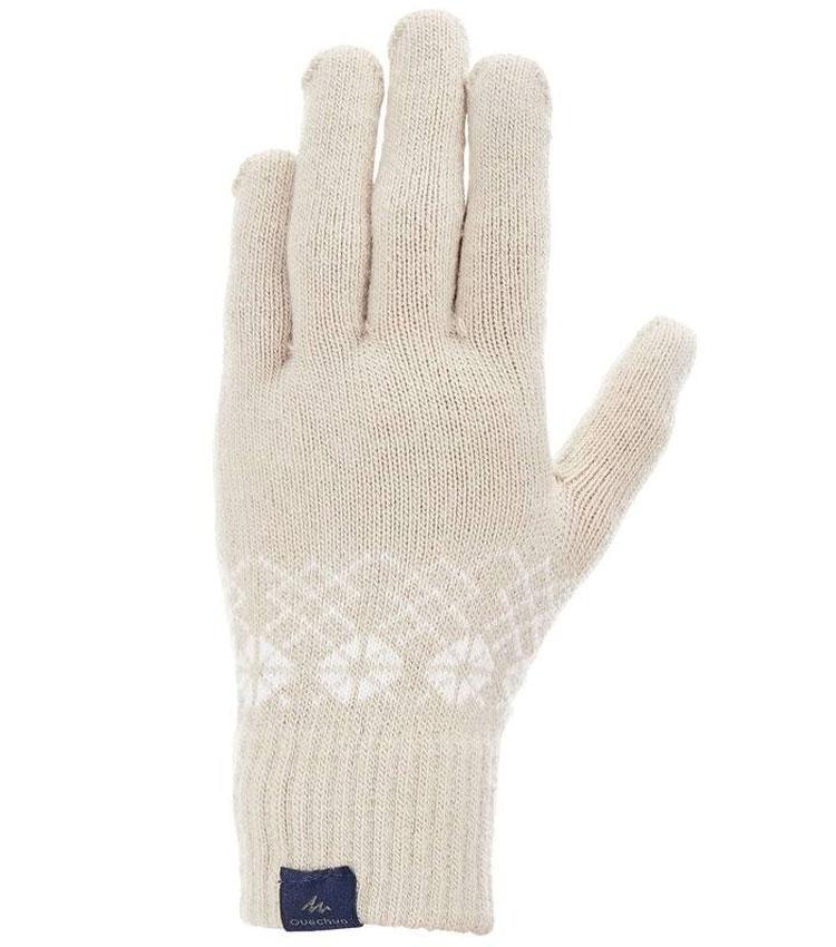 Перчатки QUECHUA EXPLOR 550 бежево-серые