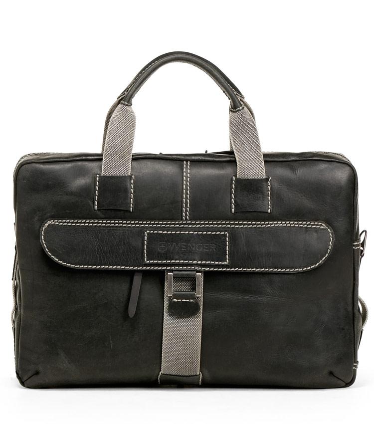 Портфель кожаный Wenger W23-10Bl Arizona
