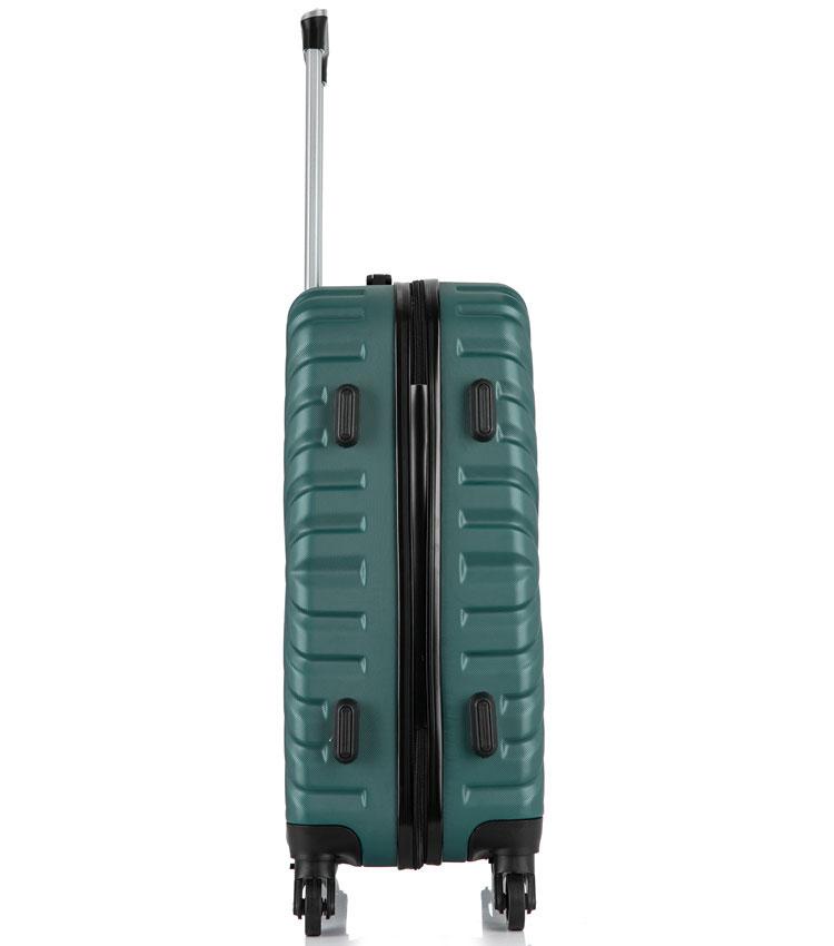 Средний чемодан спиннер Lcase New-Delhi green (61 см)