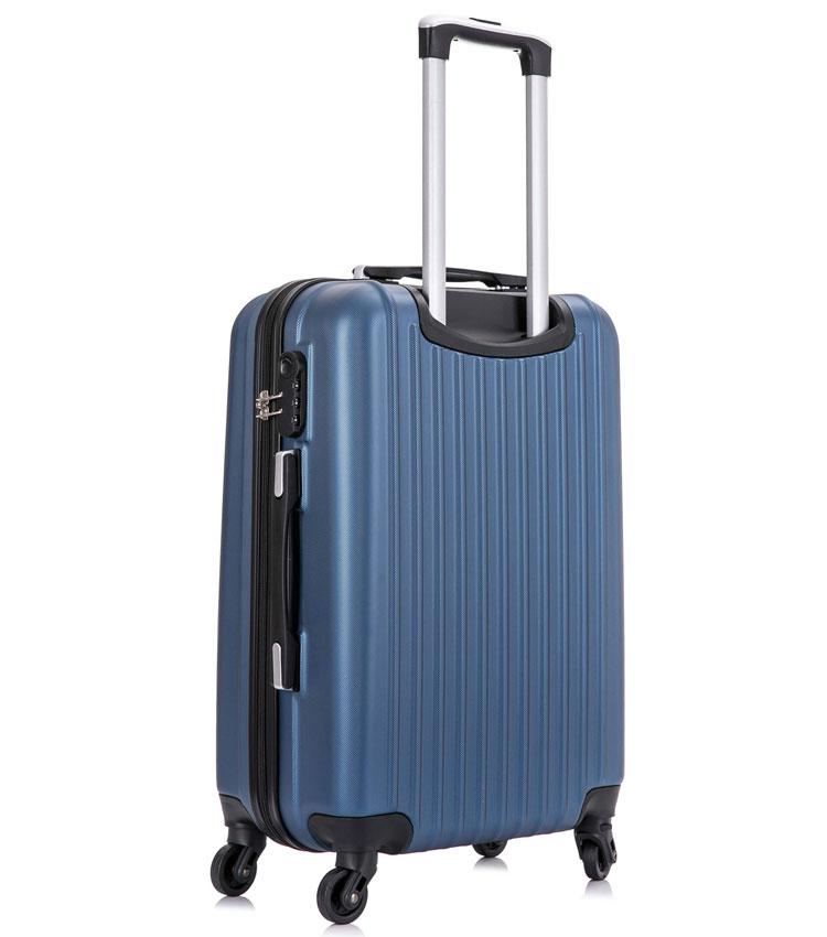 Средний чемодан спиннер Lcase Krabi Dark blue (63 см)