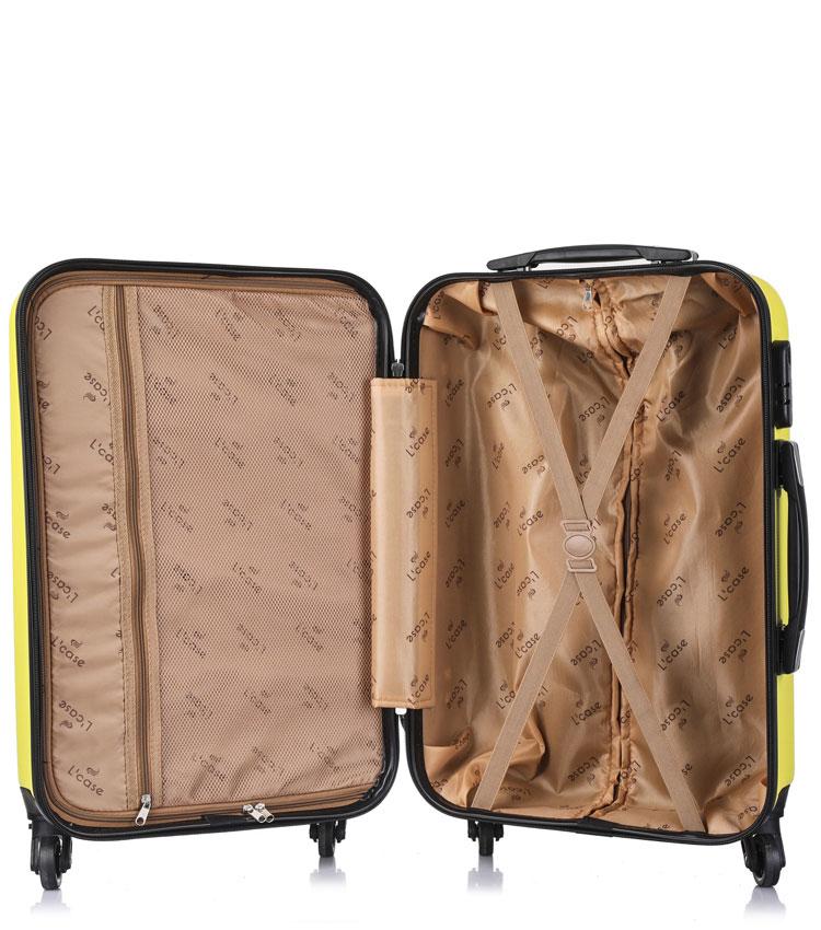 Средний чемодан спиннер Lcase Krabi Yellow (63 см)