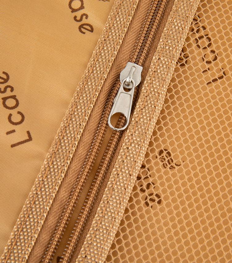Средний чемодан спиннер Lcase New-Delhi black (61 см)