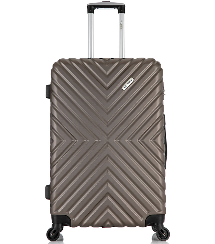 Средний чемодан спиннер Lcase New-Delhi coffee  (61 см)