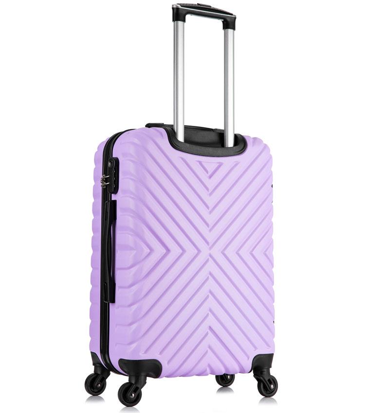 Средний чемодан спиннер Lcase New-Delhi light purpule (61 см)
