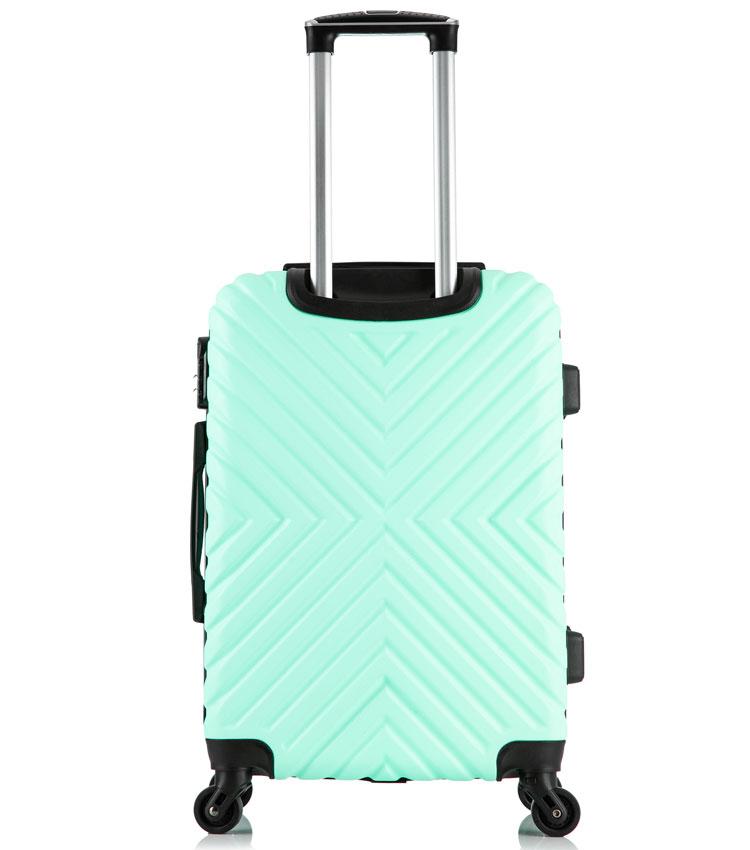 Средний чемодан спиннер Lcase New-Delhi mint (61 см)