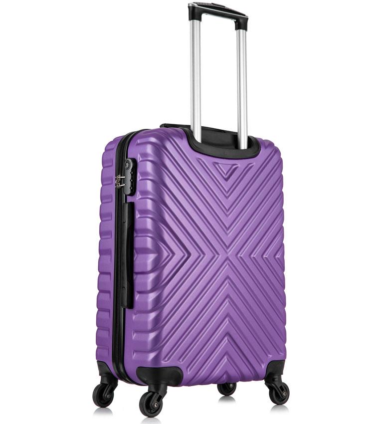 Средний чемодан спиннер Lcase New-Delhi purpule (61 см)
