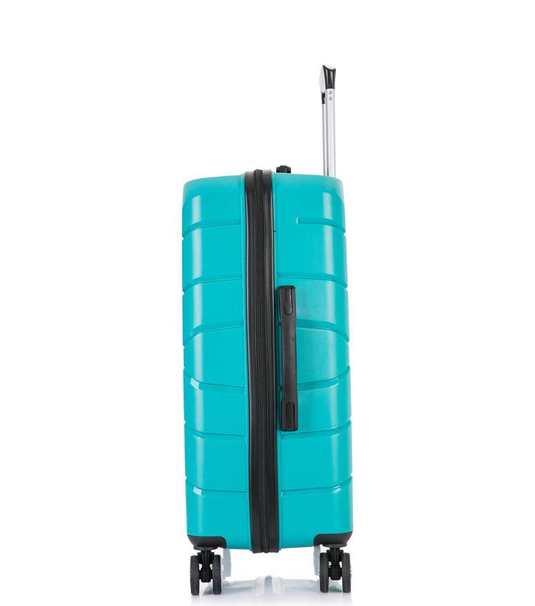 Средний чемодан спиннер Lcase Singapore green (68 см)