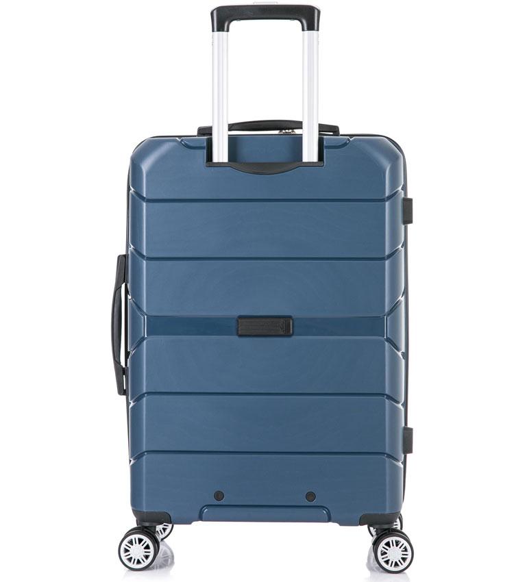 Средний чемодан спиннер Lcase Singapore navy (68 см)