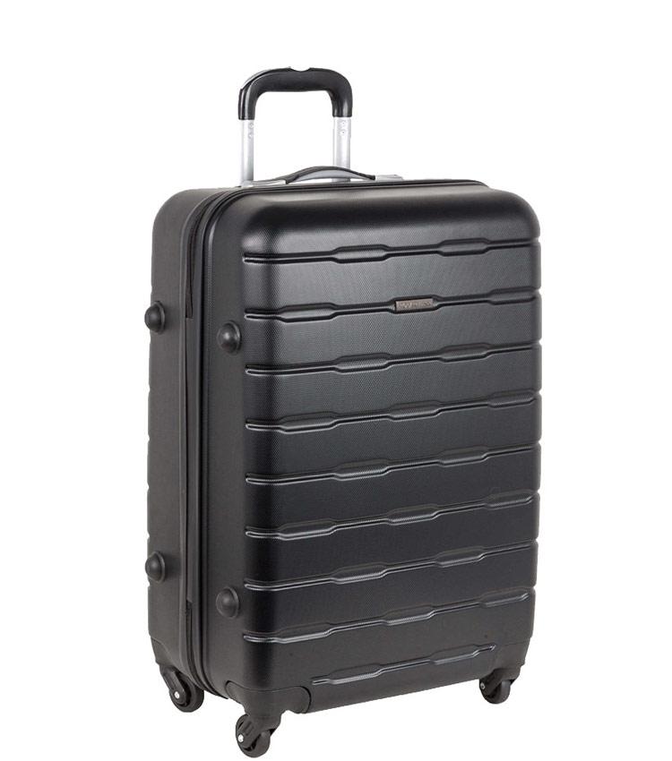 Средний чемодан-спиннер Polar РА072 black (64 см)