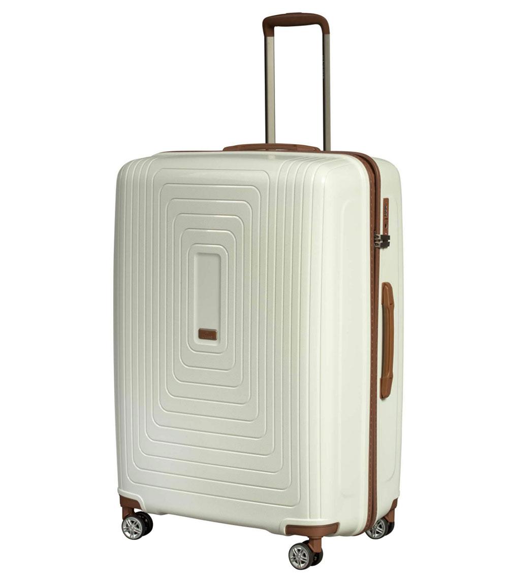 Средний чемодан L-case Moscow white