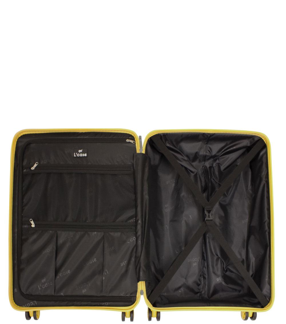 Средний чемодан L-case Moscow yellow