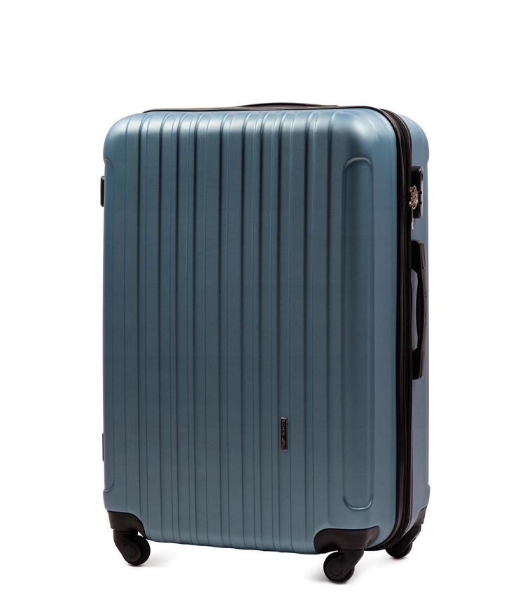 Средний чемодан Wings Flamingo 2011-3 - Silver blue (65 см)