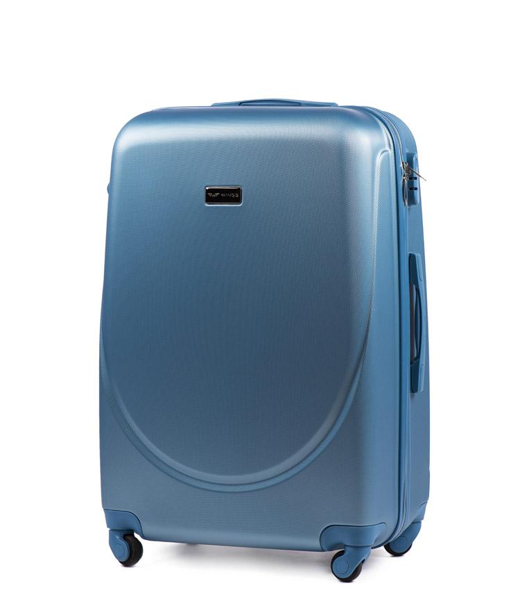 Средний чемодан Wings Goose 310-4 - Silver blue (65 см)