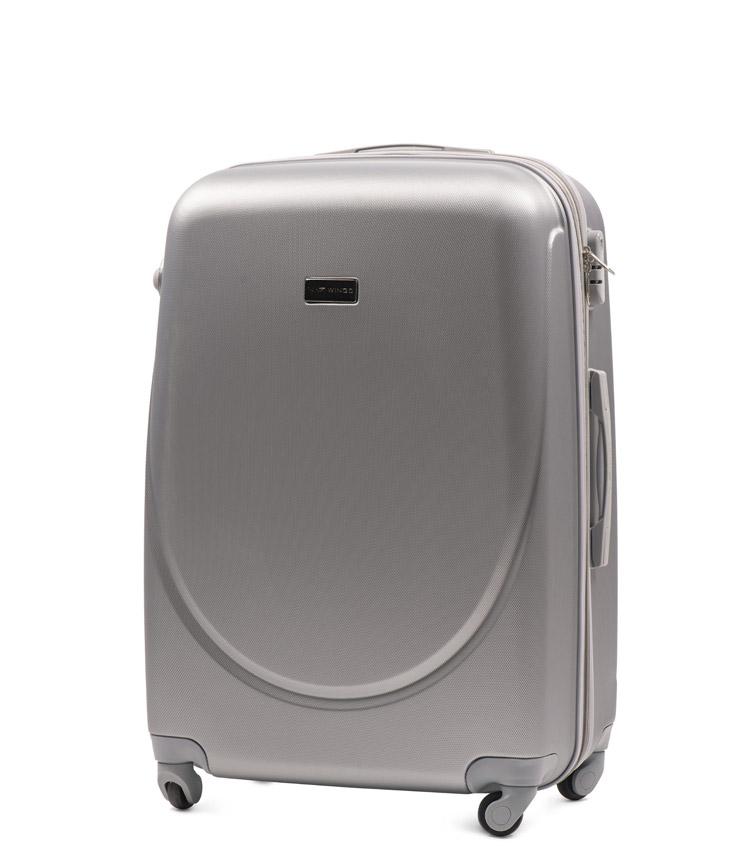 Средний чемодан Wings Goose 310-4 - Silver (65 см)