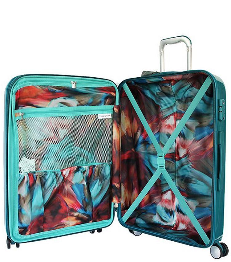 Средний чемодан IT Luggage Sheen 16-2269-08 (71 см) - Harbour blue