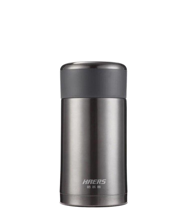 Термос HAERS HTH-750-6  750 мл. - чёрный (чехол + ложка в комплекте)