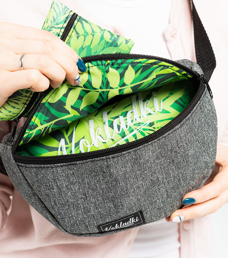 Поясная сумка Vokladki (с ключницей) «Тропический лес»