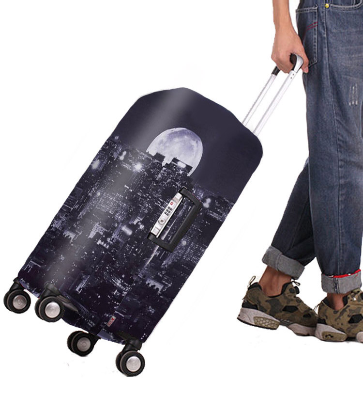 Чехол на чемодан Little Chili City moon ~S~ (48–56 см)