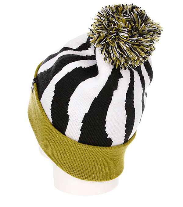 Шапка с помпоном True Spin Original Zebra Lime