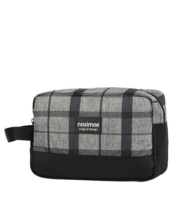 Несессер NOSIMOE 3400 (меланж-клетка-серый)