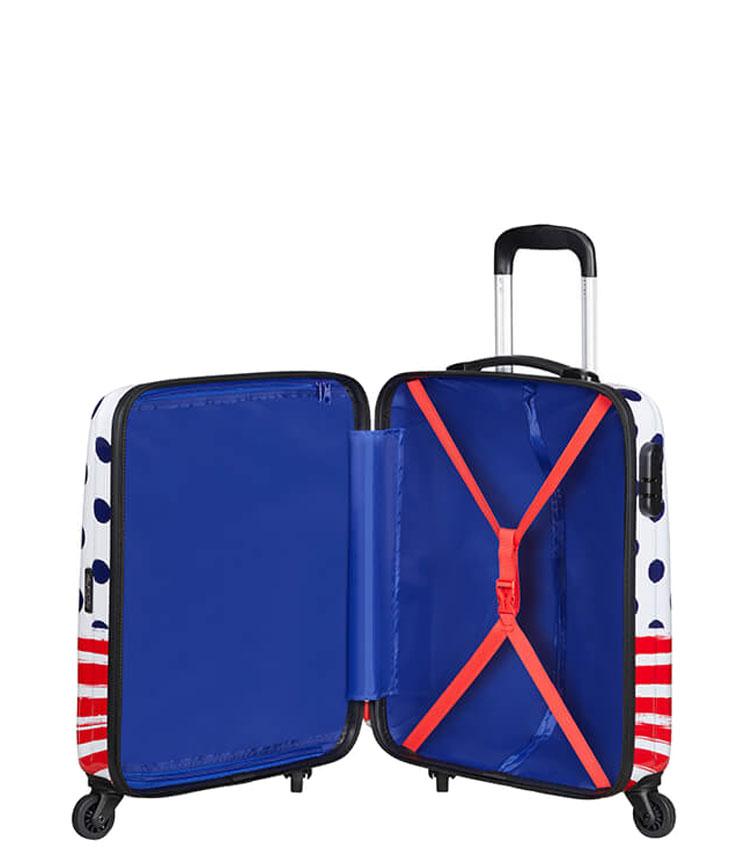 Малый чемодан American Tourister DISNEY LEGENDS 19C*31019 (55 см) Minnie Blue Dots ~ручная кладь~