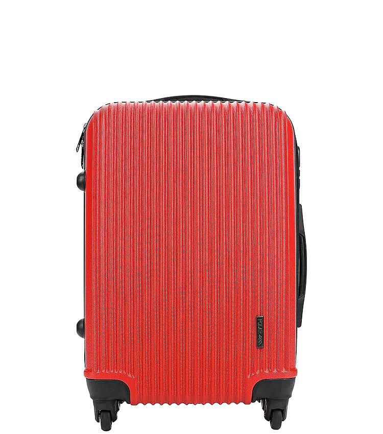 Средний чемодан-спиннер Polar РА056 red (64 см)