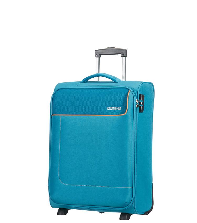 Малый чемодан American Tourister Funshine 20G*11001 (55 см) - Blue Ocean ~ручная кладь~