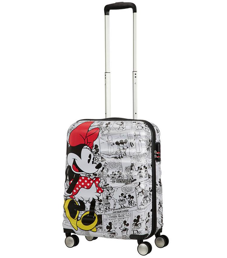 Малый чемодан American Tourister WaveBreaker Disney 31C*25001 (55 см) Minnie Comics White ~ручная кладь~