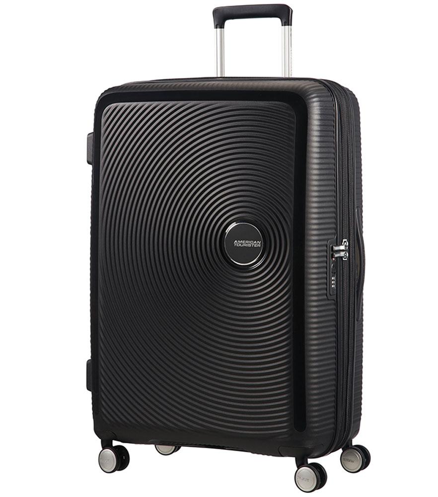 Большой чемодан American Tourister 32G*09003 Soundbox Spinner (77 см) - Bass Black