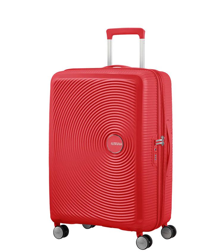 Средний чемодан American Tourister 32G*10002 Soundbox Spinner (67 см) - Coral Red