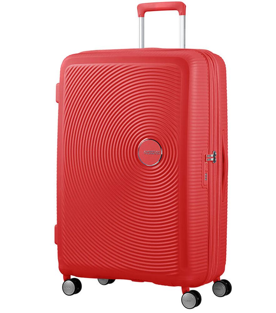 Большой чемодан American Tourister 32G*10003 Soundbox Spinner (77 см) - Coral Red