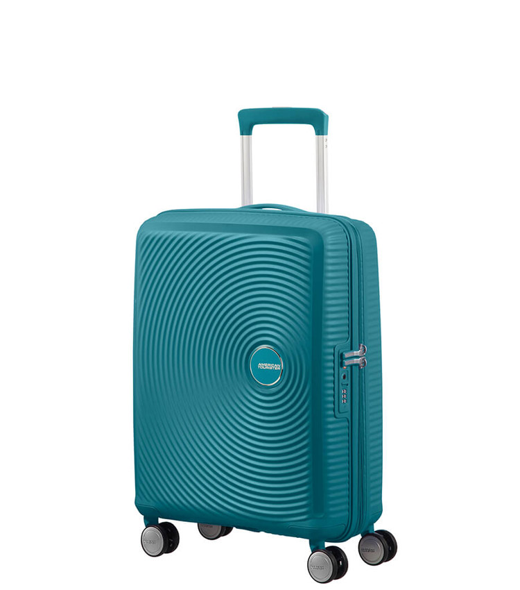 Малый чемодан American Tourister Soundbox Spinner Expandable 32G*14001 (55 см) Jade Green ~ручная кладь~