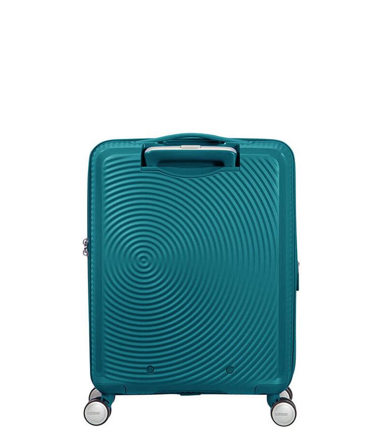 Малый чемодан American Tourister Soundbox Spinner Expandable 32G*14001 (55 см) Jade Green ~ручная кладь~